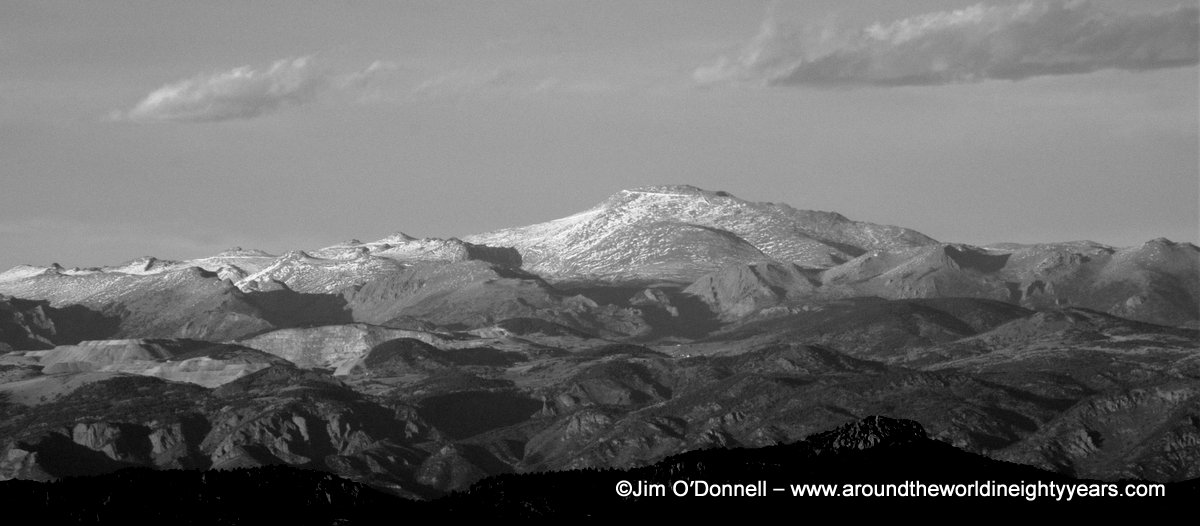 Pikes Peak from southside BW Pikes Peak Colorado   My Shot of the Day   November 2, 2012